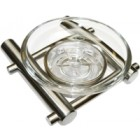 FRI80036 Glass Soap Dish & Holder-SSS
