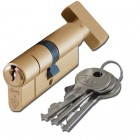 BS Kitemarked Snap Resistant Euro Key and Turn Cylinder
